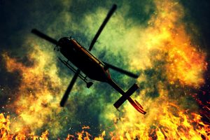 Jumping From a Burning Helicopter Left Two Men Killed, and Two Others Injured